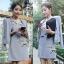 Lady Ribbon Mini Dress Outer Set เซ็ตเสื้อนอก-มินิเดรส 4 สี thumbnail 6