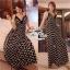 Black&White Zigzag Maxi Dress แม็กซี่เดรสสายเดี่ยว โทนขาวดำ thumbnail 2