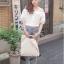เสื้อผ้าฝ้ายสีขาว ปักฉลุ ยางยืดช่วงคอและแขน thumbnail 5