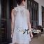 Lady Ribbon Dress เดรสผ้าชีฟองประดับมุกและโบด้านหลัง thumbnail 4