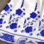 Ice Vanilla เดรสผ้าชีฟอง ปักไหมสีน้ำเงิน ลายดอกไม้วินเทจ thumbnail 7