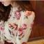 เสื้อแขนยาว ผ้าชีฟอง สีเบจ พิมพ์ลายดอกไม้ thumbnail 7