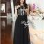 Lady Ribbon Chiffon Lace Maxi Dress เดรสยาวตัดต่อผ้าชีฟองและผ้าลูกไม้สไตล์วินเทจ thumbnail 4