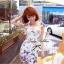 Lady Ribbon มินิเดรสแขนสั้น ผ้าลูกไม้ พิมพ์ลายผีเสื้อ สีแจ่ม thumbnail 1