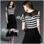 Lady Ribbon Cut-Out Shoulder Striped Maxi Dress thumbnail 2