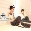 Odee Cutie Black&White Polka Dot Jumpsuit จั๊มสูทขายาว ลายจุด thumbnail 6