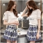 Lady Ribbon Lace Top and Printed Skirt Set thumbnail 4
