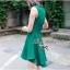 Lady Ribbon มินิเดรสแขนกุด สีเขียว ชายกระโปรงทรงเก๋ๆ thumbnail 5