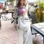 Lady Ribbon Mix Orchid Printed Chiffon Maxi Dress thumbnail 1