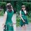 Lady Ribbon มินิเดรสแขนกุด สีเขียว ชายกระโปรงทรงเก๋ๆ thumbnail 4