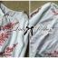 Lady Ribbon Top เสื้อแขนยาวสีขาวปักลายธรรมชาติ สีแดง thumbnail 10