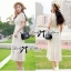 Lady Ribbon Lace Maxi Dress แม็กซี่เดรสแขนสั้น ผ้าลูกไม้ จั๊มเอว thumbnail 2