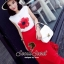 Seoul Secret Blossom Print Cami with Long Red Skirts thumbnail 8
