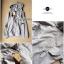 Lady Ribbon Wing Hood Outer เสื้อคลุมมีฮู้ด สีเทา-ดำ ติดปีกนางฟ้า thumbnail 10