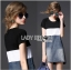 Lady Ribbon Casual Colorblock Denim Dress thumbnail 2