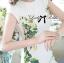 Lady Ribbon Dress เดรสแขนสั้น แต่งลายพิมพ์ดอกไม้สีเขียว thumbnail 3