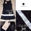 Lady Ribbon เดรสสีดำ ตัดขอบขาว ดีเทลชายกระโปรงอัดพลีท thumbnail 10