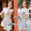 Lady Ribbon Lady Cherline Smart Casual Striped Lace Dress thumbnail 2