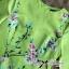 Lady Ribbon Eastern Blossom Print Dress in Green thumbnail 7