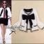 เสื้อคลุมขาวขอบดำ ดีเทลแต่งขอบมุก ขายพร้อมผ้าพันคอชีฟอง thumbnail 2