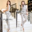 Lady Ribbon Lady Black&White Checkmate Trousers Set thumbnail 5