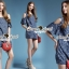 Seoul Secret Star Star Denim Dress thumbnail 9