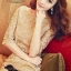 Luxury Gold Embroidery Dress เดรสสุดหรู ผ้าลูกไม้ โทนสีทอง thumbnail 7