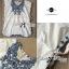 Lady Ribbon มินิเดรสปักลายดอกไม้ สีฟ้าสดใส thumbnail 7