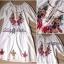 Lady Ribbon มินิเดรสสีขาว ปักดอกไม้สีสดใส แต่งโบว์ thumbnail 9