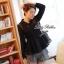 Lady Ribbon เสื้อผ้าแก้วทรงเชิ้ต ปักดอกไม้ สีขาว / สีดำ thumbnail 5