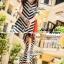 Lady Ribbon B&W Stripe Maxi Korea แม็กซี่ลายขวาง สุด Chic thumbnail 5