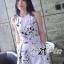 Lady Ribbon Jumpsuit จั๊มสูทขาสั้น พิมพ์ลายดอกไม้สีพาสเทล thumbnail 1