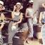 Seoul Secret Chic Stripy Bib Dress thumbnail 1