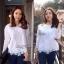 Lady Ribbon Lace Top เสื้อปักฉลุ แขนยาวฉลุลาย thumbnail 4