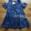 Lady Ribbon Flower Cut-Out Ripped Washed Denim Dress thumbnail 9