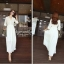 Icevanilla White Luxury Korea Chiffon Dress thumbnail 2