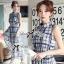 Lady Ribbon Maxi Dress เดรสยาว ผ้าพิมพ์ลายตาราง thumbnail 2