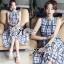 Lady Ribbon Maxi Dress เดรสยาว ผ้าพิมพ์ลายตาราง thumbnail 5