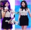 Lady Ribbon Collared Color-Block Lace Dress thumbnail 8
