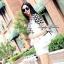 Lady Ribbon Black&White Set ชุดเซ็ทเสื้อกางเกง พิมพ์ลายกราฟฟิค thumbnail 1