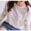 เสื้อแขนยาวสีขาว แขนเสื้อตัดต่อผ้าไหมพรมถัก thumbnail 10
