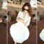 Icevanilla White Luxury Korea Chiffon Dress thumbnail 4