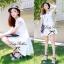 Lady Sweet Mini Dress เดรสตัดต่อลูกไม้ผ้าแก้วออแกนซ่า ลายดอกไม้ thumbnail 3