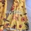 Lady Ribbon Floral Printed Cut-Out Twist Jumpsuit in Yellow thumbnail 9