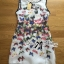 Lady Ribbon Insert Lace Colourful Butterfly Printed Dress thumbnail 9