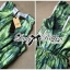 Lady Ribbon Green Leaf Jumpsuit จั๊มสูทขาสั้น พร้อมเข็มขัด thumbnail 4