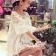 Seoul Secret Bell Sleeve Ivory Lace Net Tops on Long Blouse thumbnail 6