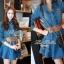 Lady Ribbon Denim Dress เดรสเชิ้ต ผ้ายีนส์ พร้อมเข็มขัด thumbnail 5