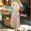 Lady Ribbon Colourful Chiffon Pleated Maxi Dress thumbnail 7