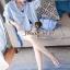 เสื้อเชิ้ตตัวยาว ลายทางโทนสีฟ้าขาว thumbnail 3